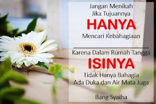Jangan Menikah Jika Hanya Ingin Mencari Kebahagiaan!