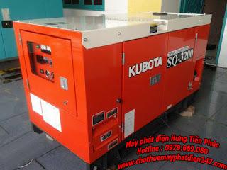 máy phát điện Kubota cũ