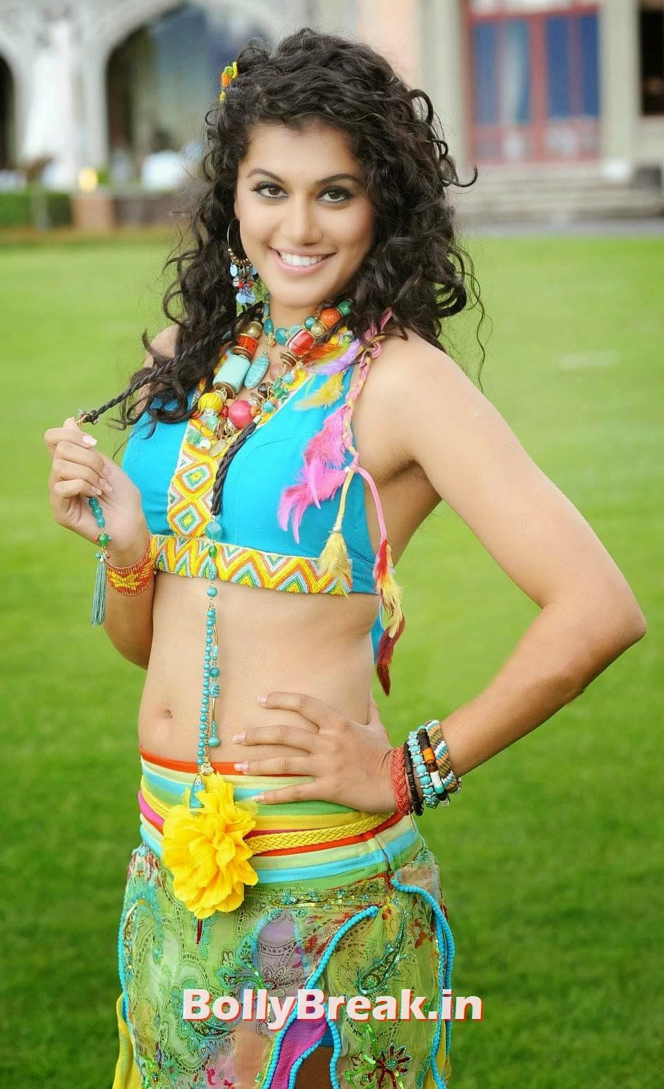 , Tapsee Backless Photos, Tapsee Pannu Hot Images Skirt & Choli