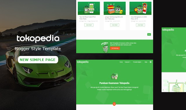 TokoPedia Simple - Landing Page