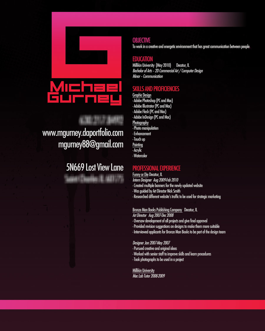 graphic design resume samples - Sample Resume For Graphic Designer