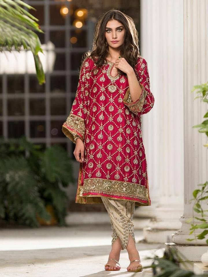 Eye Catching Chiffon Party Dress With Embroidered Net Dupatta