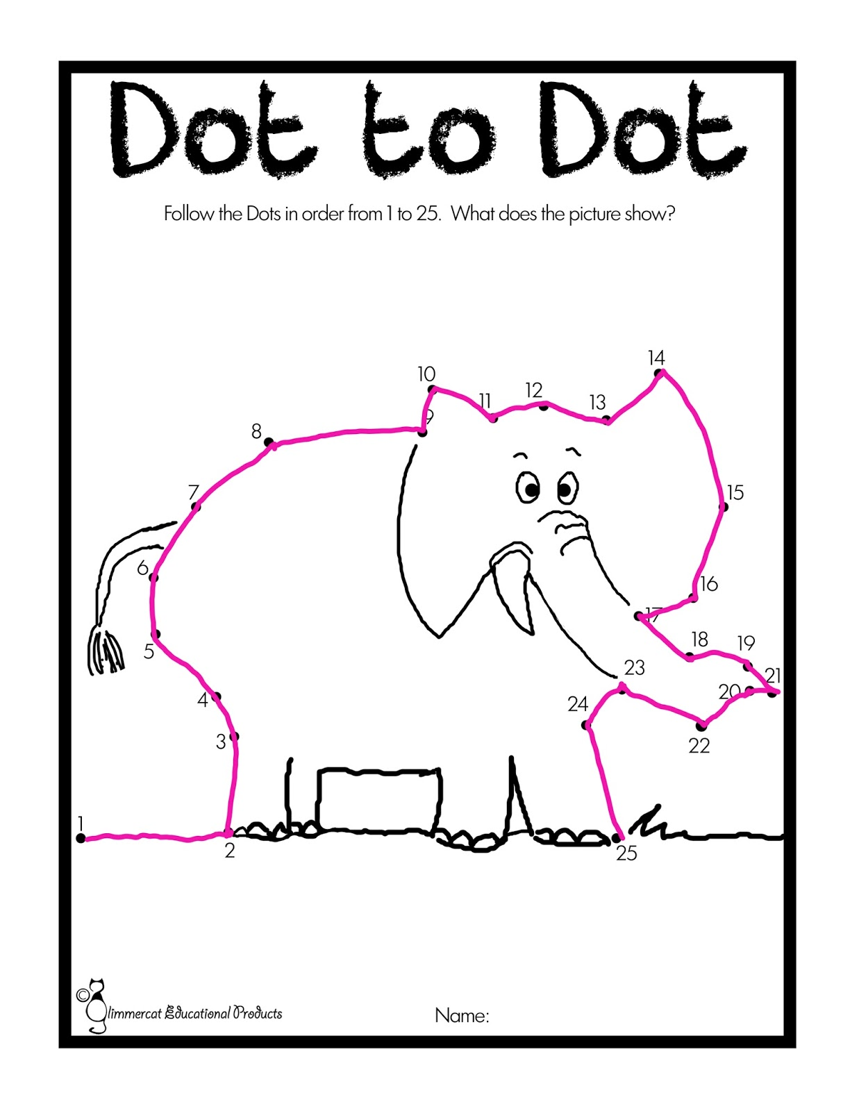 Glimmercat E Is For Elephant