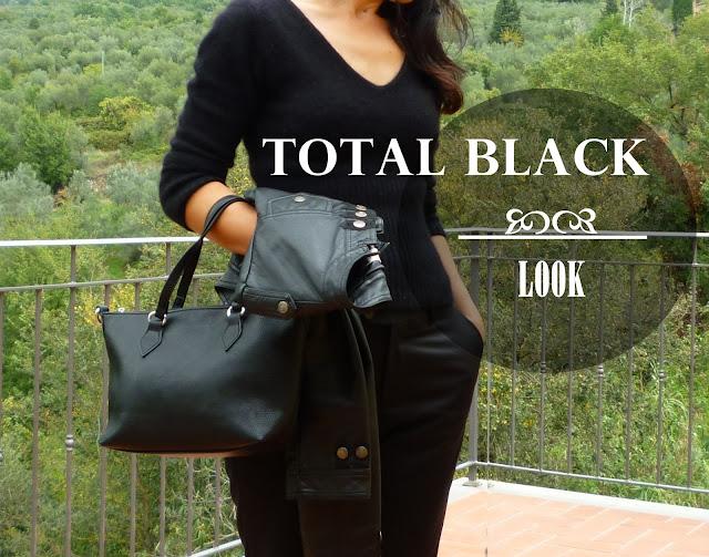 total black look women, czarna stylizacja w rockowym klimacie