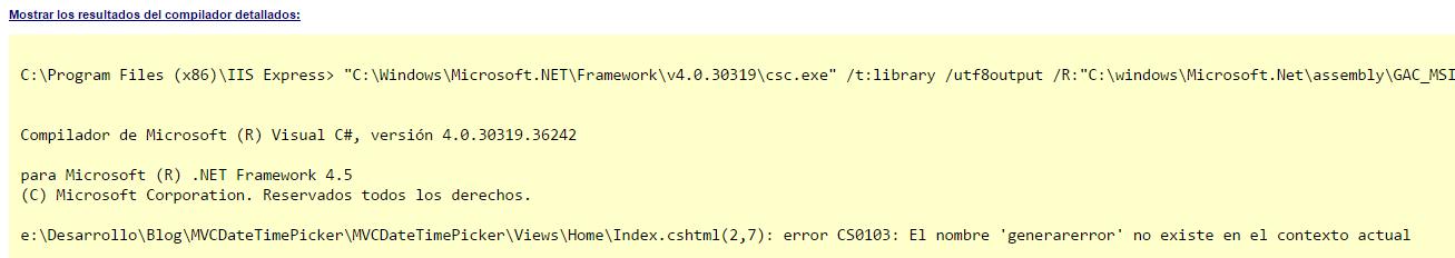 Mensaje de compilador C#