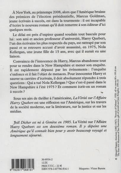 La Verite Sur L Affaire Harry Quebert Fin : verite, affaire, harry, quebert, Vague, Livres:, Vérité, L'Affaire, Harry, Quebert, Joël, Dicker
