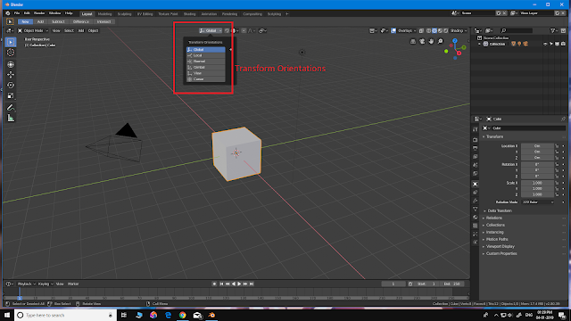 Blender Transform Orientation
