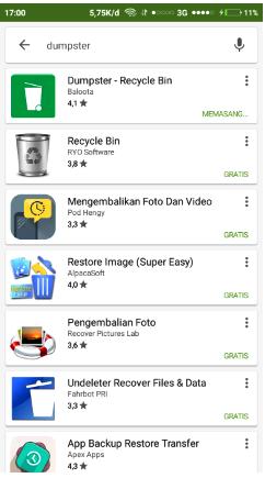 Cara mudah mengembalikan data dan file android yang hilang dengan dumpster