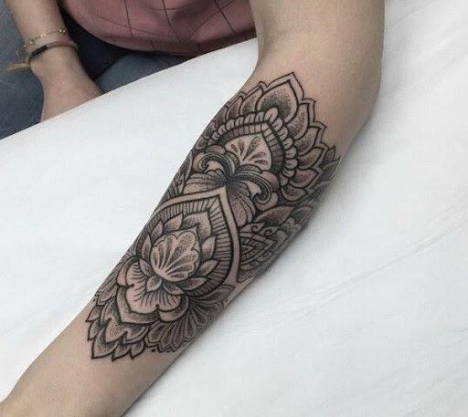 Lotus Mandala Padrão De Tatuagem