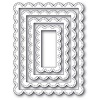 Poppystamps Double Stitch Scalloped Rectangle Frames