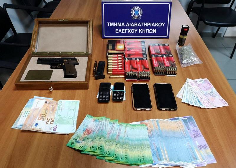 Συνελήφθησαν 2 αλλοδαποί στο τελωνείο Κήπων οι οποίοι είχαν στην κατοχή τους πιστόλι, φυσίγγια και ναρκωτικά