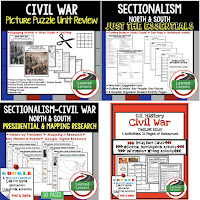 The Civil War, Sectionalism, Google Activities, American History Timelines, American History Word Walls, American History Test Prep, American History Outline Notes, American History by President Research, American History Mapping Activities, American History Biography Profiles, American History Interactive Notebooks