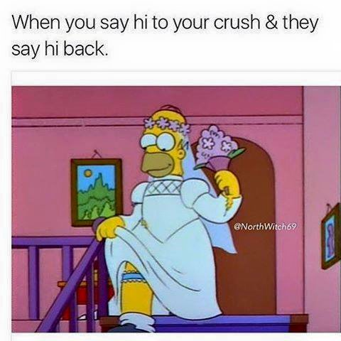 When you say hi to your crush and they say hi back.