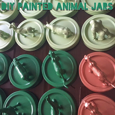 DIY Painted Animal Jars