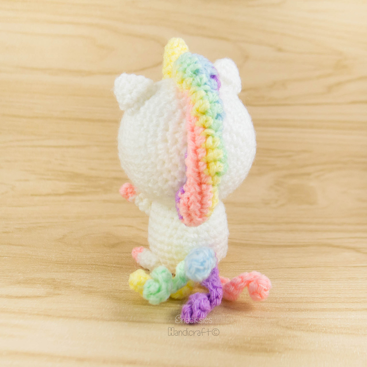 Rainbow Unicorn Amigurumi Pattern ~ Snacksies Handicraft ...