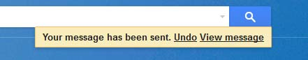 Gmail asking for UNDO