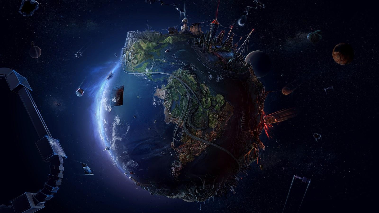 +planet Earth Space HD wallpaper+(1)