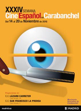 Programación de la XXXIV Semana de Cine Español en Carabanchel, del 14 al 20 de noviembre de 2016