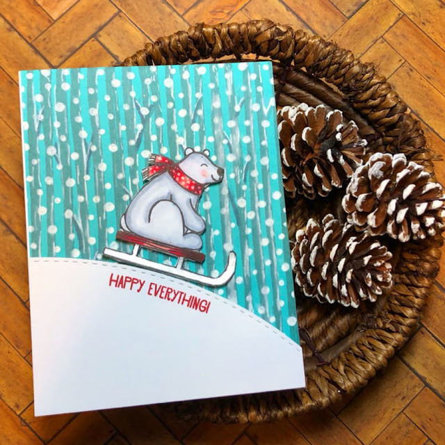 Sunny Studio Stamps: Playful Polar Bears Customer Card by Oh My Heart