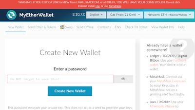 Cree su cartera de Ethereum con MyEtherWallet