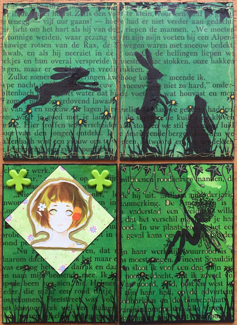 Lavinia Rabbit and Fairy ATC
