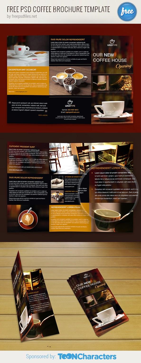 Free Coffee Brochure Template PSD