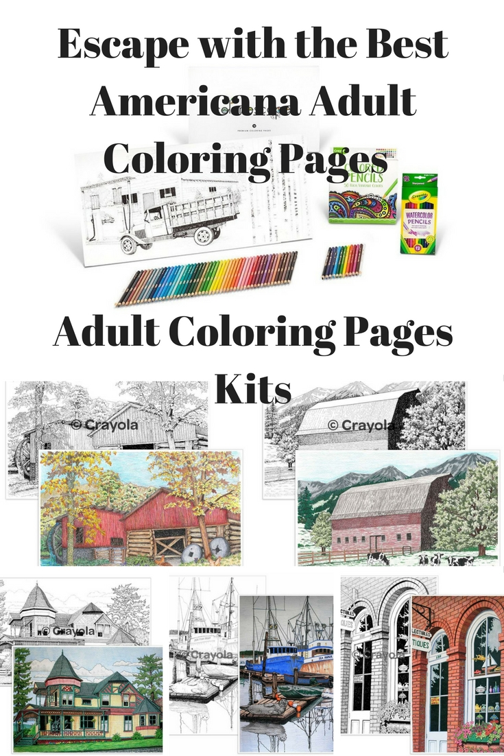 Americana Adult Coloring Kit