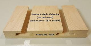Tấm gỗ Slatwall Melamine Vs. Tấm gỗ Slatwall Veneer, Rãnh nhôm T cài tấm gỗ