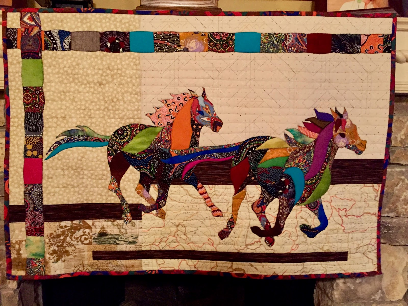 kbooneribbonquilt quilts by showthrow b ribbon horse lani heirloom quilt ohly