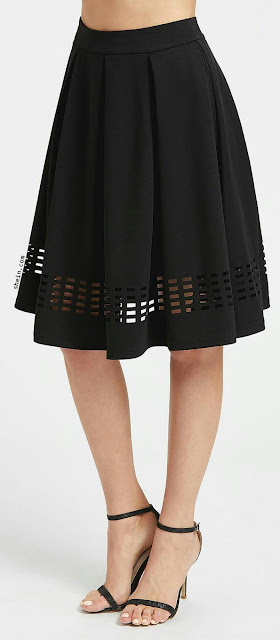 Box plated black skirt