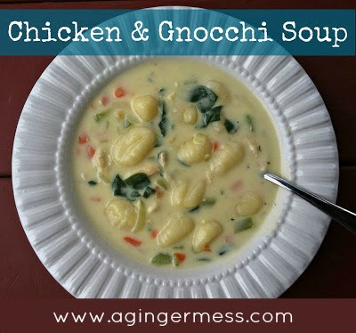 A Ginger Mess: Creamy Chicken and Gnocchi Soup