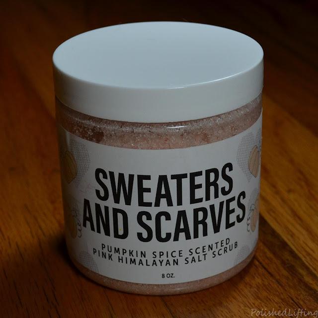 pumpkin spice scented salt scrub