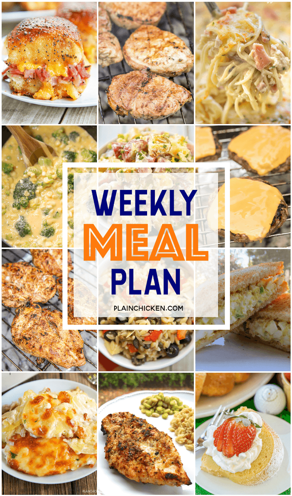What's For Dinner? {Weekly Meal Plan}