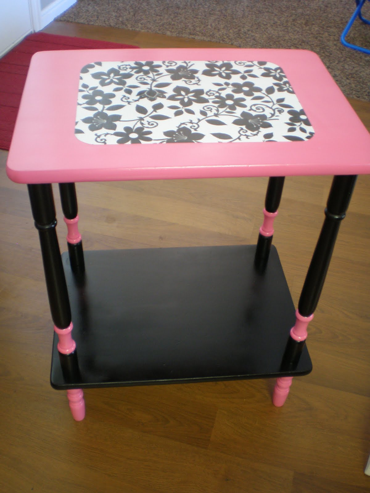 Hot Pink Office Chair Recreated Creations Sassy Black Hot Pink And White Desk