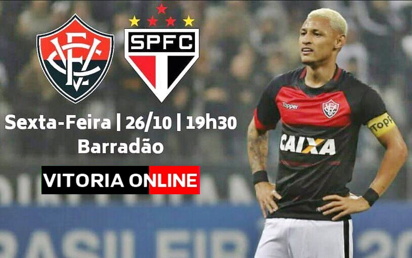 Assistir online Vitória x São Paulo ao VIVO HD pelo Campeonato Brasileiro 1