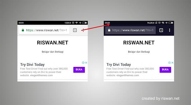 Cara Mengubah Warna Address Bar Situs di Browser Mobile - Riswan.net
