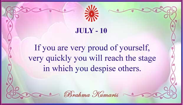 Thought For The Day July 10