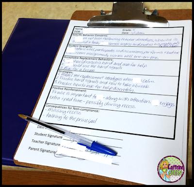 Behavior management plan gives teachers a concrete plan to follow - great documentation!