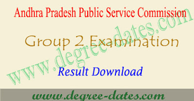 APPSC Group 2 Results 2017 pdf manabadi