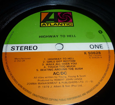 Highway to hell label