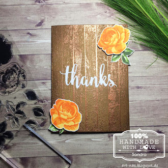 Quick thank you card / Schnelle Dankeskarte