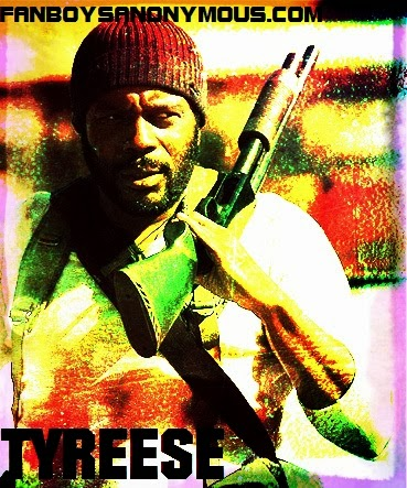Walking Dead Tyreese actor Chad L. Coleman grindhouse art