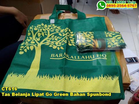 Grosir Tas Belanja Lipat Go Green Bahan Spunbond