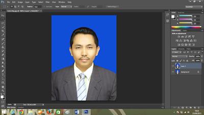 Cara Mengganti Background Foto KTP dengan Photoshop