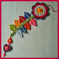 Marcapaginas crochet flor