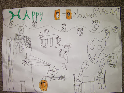 halloween home made poster witches cyclops pumpkin demons