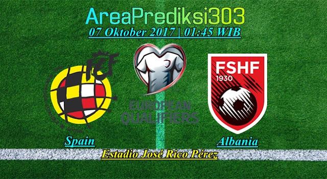 Prediksi Skor Spanyol vs Albania 07 Oktober 2017