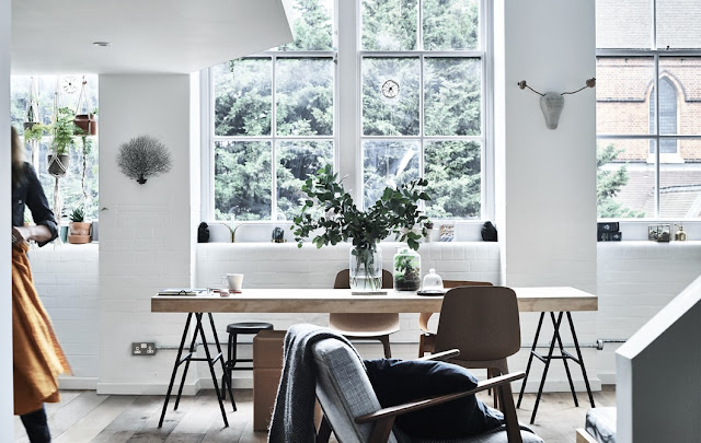 A London apartment in a former old school