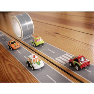 Image: Create a Road Tape with Toy Car Playset, My First Autobahn, 36 Yards X 2 Inch
