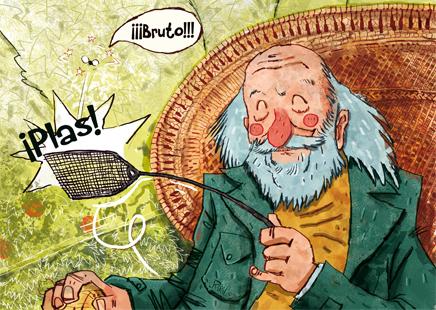 William Golding Caricatura